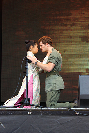 <p>Eva Noblezada and Alistair Brammer from <em>Miss Saigon</em></p><br />© Ben Hewis