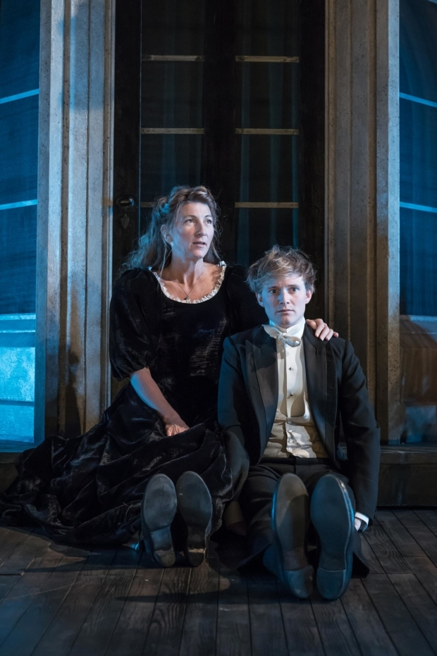 <p>Eve Best as Mrs Arbuthnot with Harry Lister Smith as Gerald Arbuthnot in <em>A Woman of No Importance</em></p><br />© Marc Brenner
