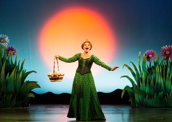 <p>Faye Brookes as Princess Fiona</p><br />© Helen Maybanks