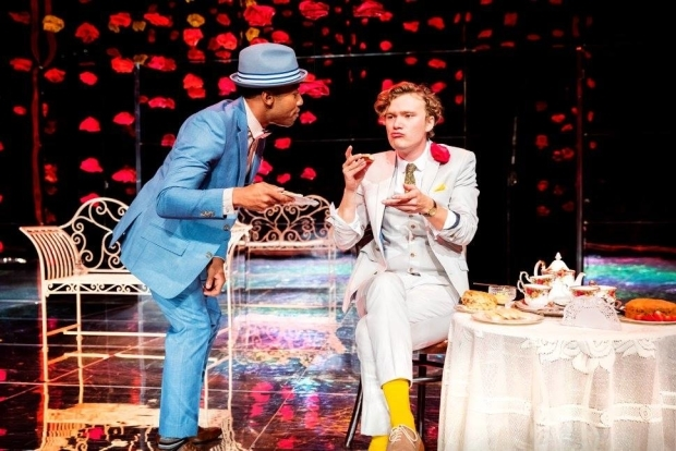 <p>Fela Lufadeju as Jack Worthing and Edward Franklin as Algernon Moncrieff</p><br />© Tom Wren