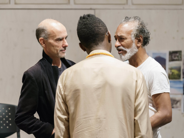 <p>Finbar Lynch, Kwame Kwei-Armah (Director) and Jim Findley (Ballested)</p><br />© Manuel Harlan