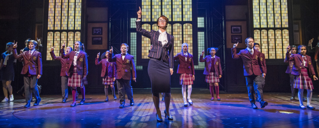 <p>Florence Andrews (Rosalie Mullins) and the cast of <em>School of Rock</em></p><br />© Tristram Kenton