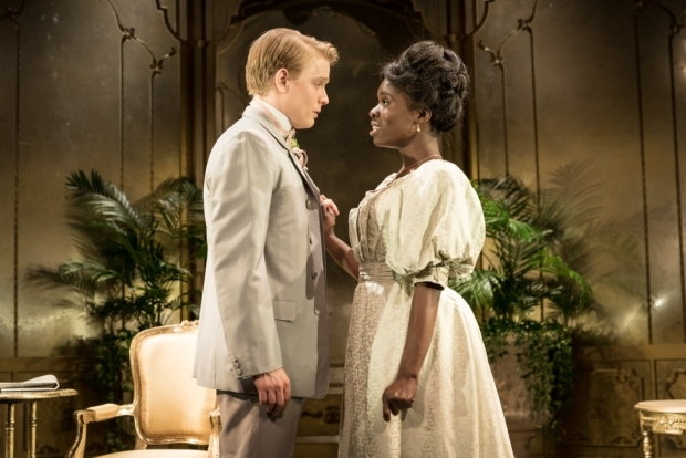<p>Freddie Fox and Faith Omole</p><br />© Marc Brenner