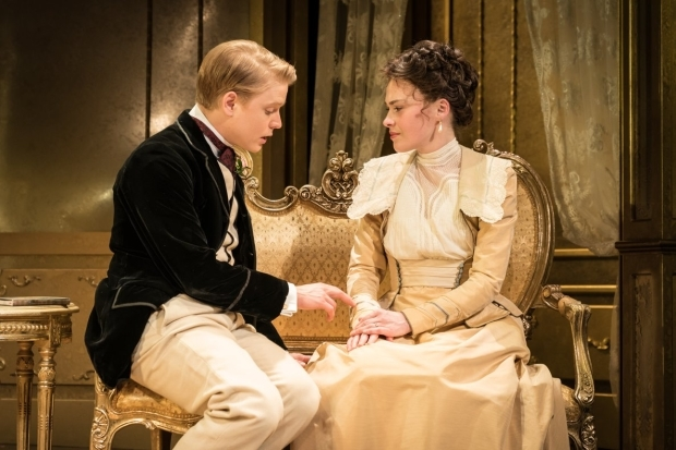 <p>Freddie Fox and Sally Bretton</p><br />© Marc Brenner