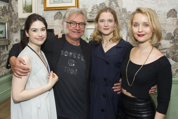 <p>Gabrielle Dempsey (Vicky Hobson), Martin Shaw (Henry Horatio Hobson), Naomi Frederick (Maggie Hobson) and Florence Hall (Alice Hobson)</p><br />© Dan Wooller for WhatsOnStage