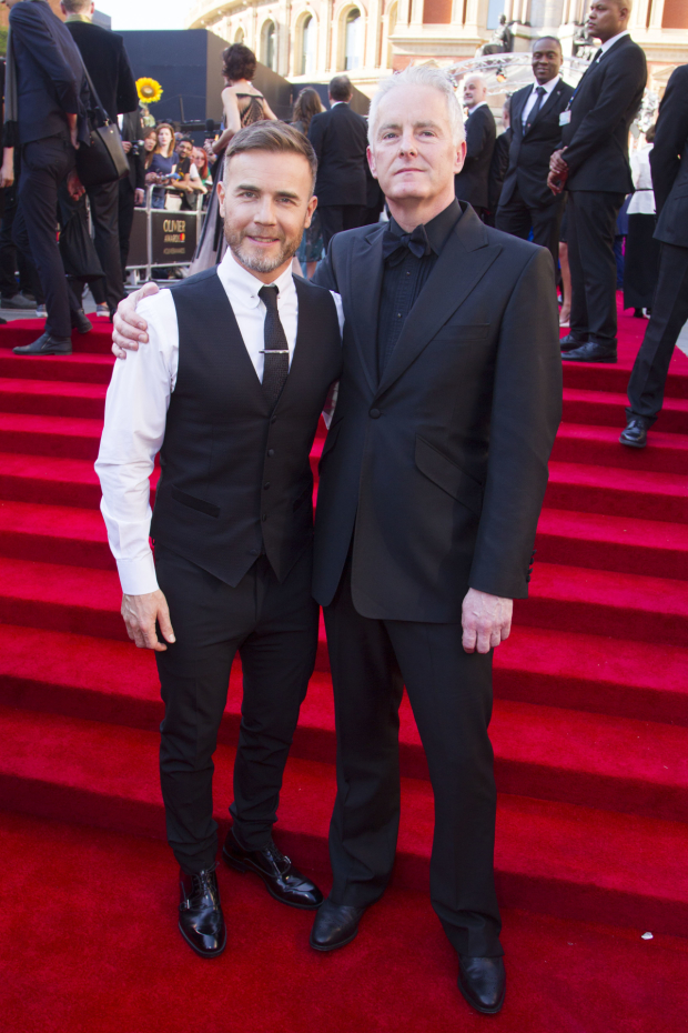 <p>Gary Barlow and Tim Firth</p><br />© Dan Wooller for WhatsOnStage