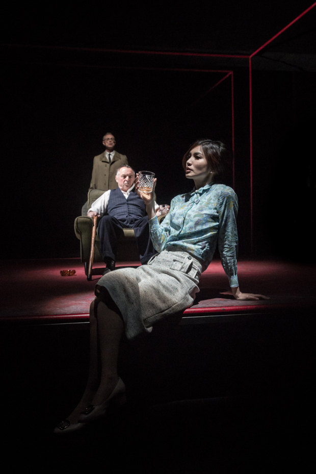 <p>Gary Kemp (Teddy), Ron Cook (Max) and Gemma Chan (Ruth)</p><br />© Marc Brenner