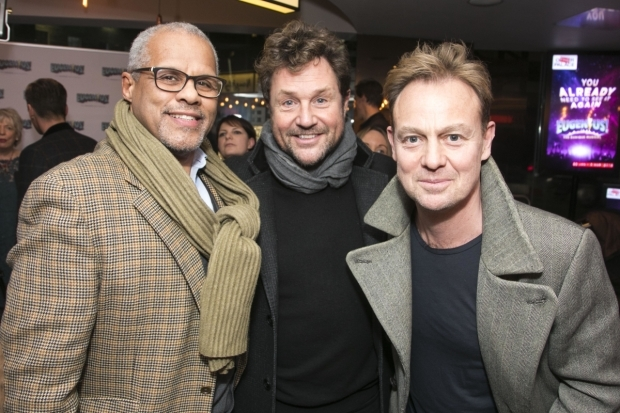 <p>Gary Wilmot, Michael Ball and Jason Donovan </p><br />© Dan Wooller