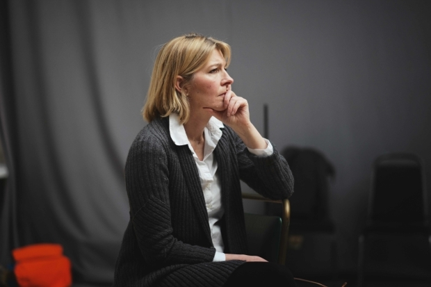 <p>Jemma Redgrave in rehearsals for <em>Mood Music</em></p><br />© Sarah Lee