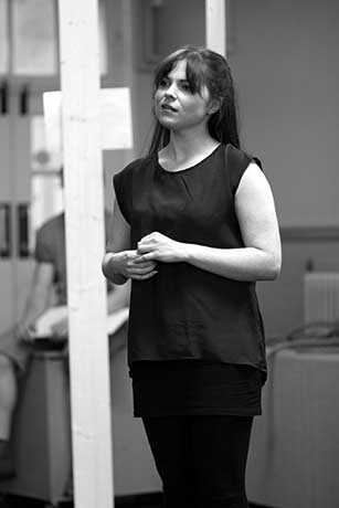 <p>Gemma Sutton (Julie Jordan) in rehearsal for <em>Carousel</em></p><br />© QNQ Creative