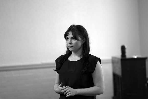 <p>Gemma Sutton (Julie Jordan) in rehearsal for Carousel</p><br />© QNQ Creative