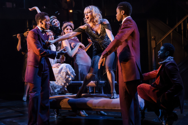 <p>Genesis Lynea and Gloria Obianyo as The D&#39&#x3B;armondo Bros with Frances Ruffelle as Queenie in <em>The Wild Party</em></p><br />© Scott Rylander