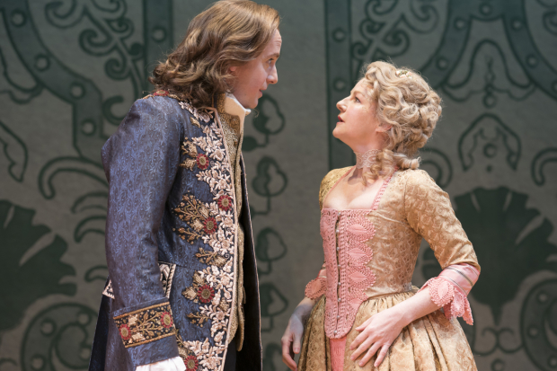 <p>Geoffrey Streatfeild (Mirabell) and Sarah Hadland (Foible)</p><br />© Johan Persson