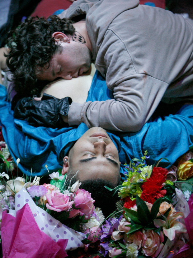<p>George Caple &amp&#x3B; Elliott Kingsley  in <em>Romeo and  Juliet</em></p><br />© Gary Calton