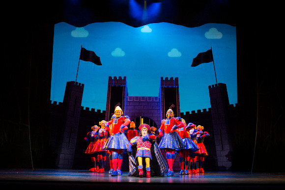 <p>Gerard Carey as Lord Farquaad</p><br />© Helen Maybanks