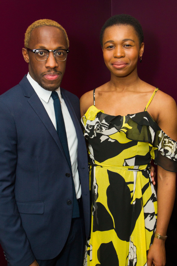 <p>Giles Terera (Roma) and Gloria Obianyo (Flake/Hook)</p><br />© Dan Wooller for WhatsOnStage