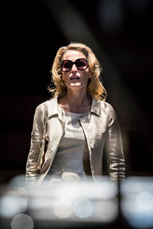 <p>Gillian Anderson in <em>A Streetcar Named Desire</em> at the Young Vic</p><br />© Johan Persson