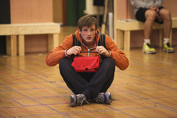 <p>Graham Butler (Christopher Boone) in rehearsals</p><br />© Ellie Kurttz
