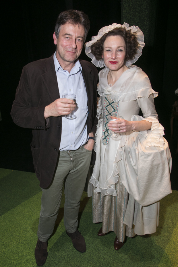 <p>Gus Christie and Nancy Carroll (Audrey Mildmay)</p><br />© Dan Wooller for WhatsOnStage