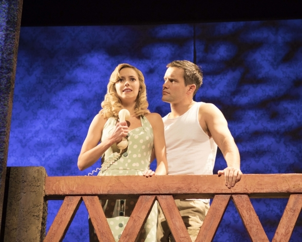 <p>Hannah Tointon as Anne Faulkner and Jack Ashton as Guy Haines </p><br />© Helen Maybanks