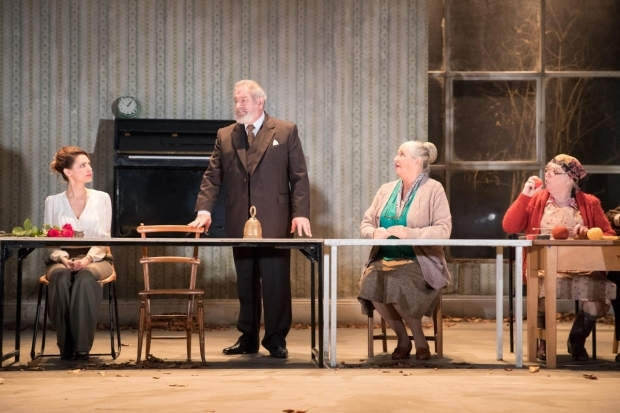 <p>Hara Yannas (Yelena), David Fleeshman (Prof Serebrayakov), Joanna McCallum (Maria), and Carol Macready (Marina)  in <em>Uncle Vanya</em></p><br />© Jonathan Keenan