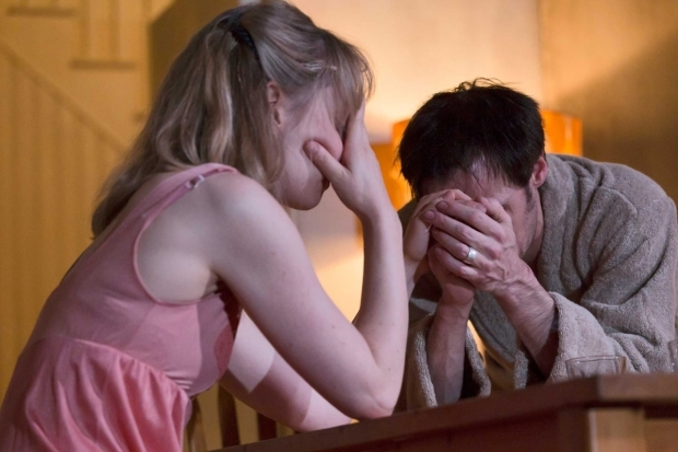 <p>Hattie Morahan and Paul Hilton in <em>Anatomy of a Suicide</em></p><br />© Stephen Cummiskey