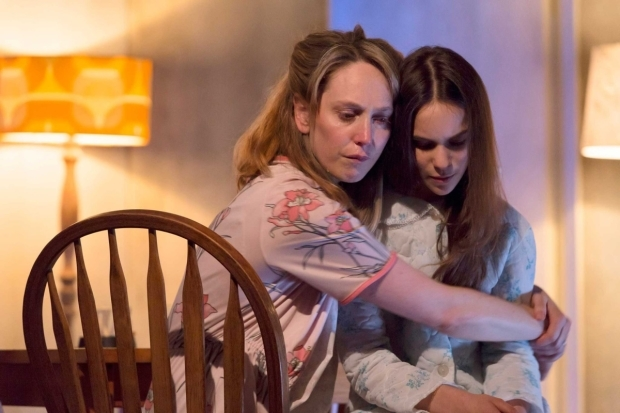 <p>Hattie Morahan and Sophia Pettit in <em>Anatomy of a Suicide</em></p><br />© Stephen Cummiskey