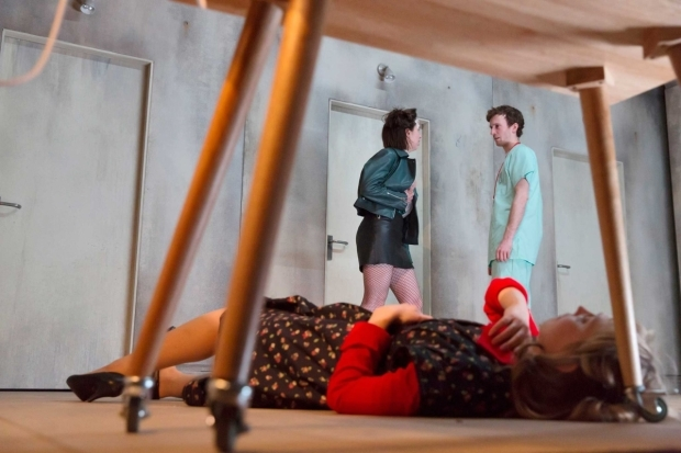 <p>Hattie Morahan, Kate O&#39&#x3B;Flynn and Peter Hobday in <em>Anatomy of a Suicide</em></p><br />© Stephen Cummiskey