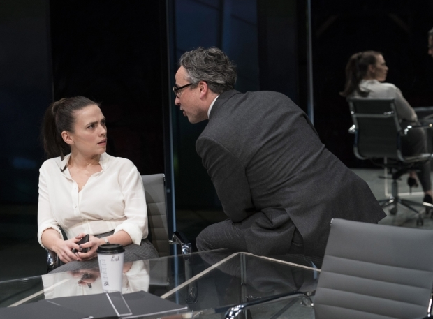<p>Hayley Atwell (Jenny) and Aidan McArdle (Rick)</p><br />© Alastair Muir