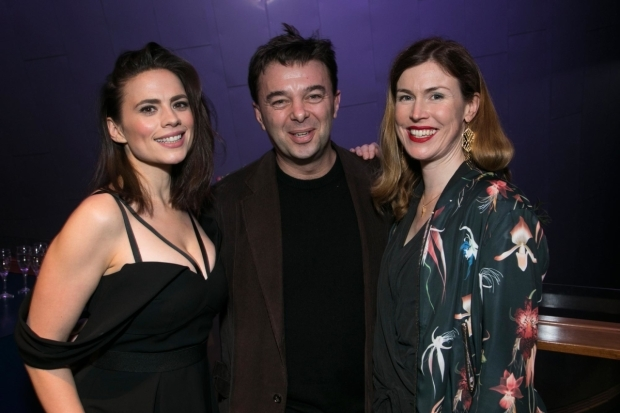 <p>Hayley Atwell (Jenny), Edward Hall (artistic director) and Anna Ledwich (director)</p><br />© Dan Wooller for WhatsOnStage
