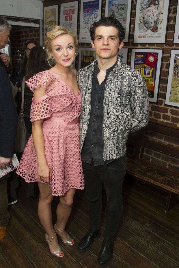 <p>Helen George (Diana Fletcher) and Edward Bluemel (Michael Brown)</p><br />© Dan Wooller for WhatsOnStage