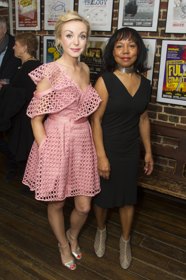 <p>Helen George (Diana Fletcher) and Vivienne Rochester (Miss Dell)</p><br />© Dan Wooller for WhatsOnStage