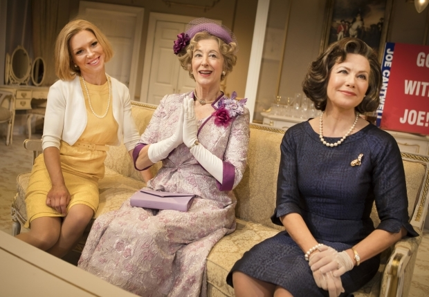 <p>Honeysuckle Weeks (Mabel Cantwell), Maureen Lipman (Mrs Gamadge) and Glynis Barber (Alice Russell)</p><br />© Pamela Raith