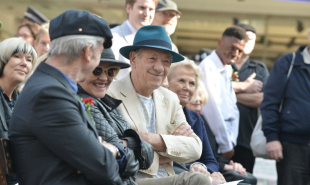 <p>Ian McKellan at the Joan Littlewood statue unveiling</p><br />(c) Robert Day