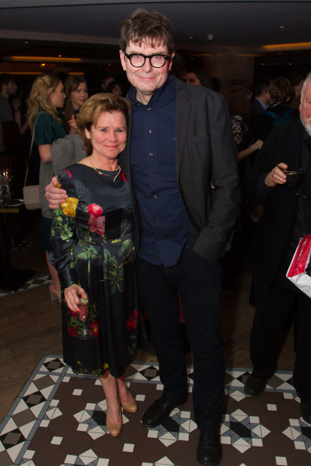 <p>Imelda Staunton (Martha) and James Macdonald (Director)</p><br />©  Dan Wooller for WhatsOnStage