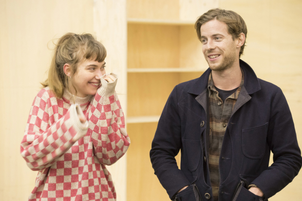 <p>Imogen Poots and Luke Treadaway in rehearsals for <em>Who&#39&#x3B;s Afraid of Virginia Woolf?</em></p><br />© Johan Persson