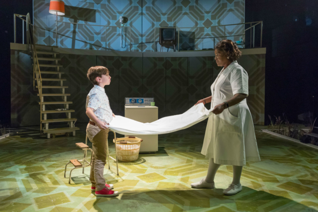 <p>Sharon D Clarke as Caroline Thibodeaux and Daniel Luniku as Noah Gellman <em>Caroline or Change</em></p><br />(c) Marc Brenner