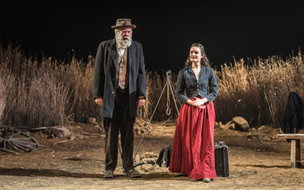 <p>Aoife Duffin (Abbie Putnam) and Matthew Kelly (Ephraim Cabot) in <em>Desire Under the Elms</em></p><br />© Marc Brenner