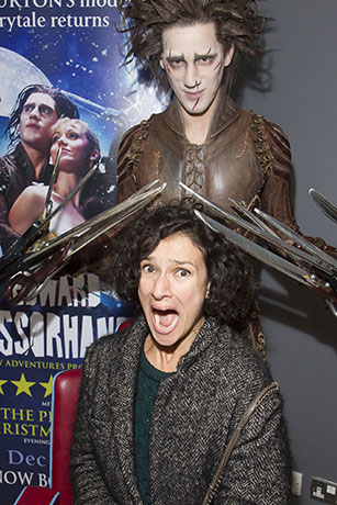 <p>Indira Varma and Dominic North (Edward Scissorhands)</p><br />© Dan Wooller for WhatsOnStage