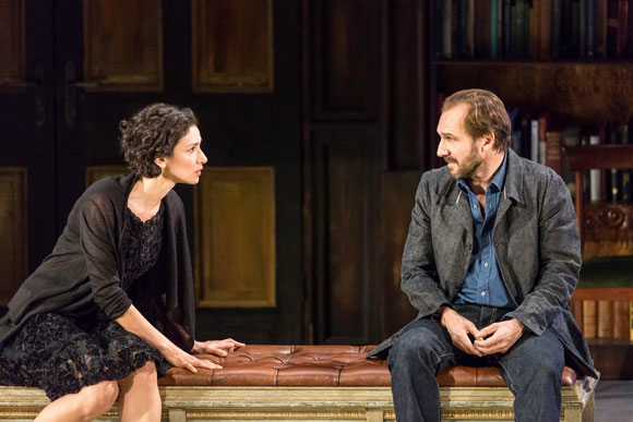 <p>Indira Varma (Ann Whitefield) and Ralph Fiennes (John Tanner)</p><br />© Johan Persson