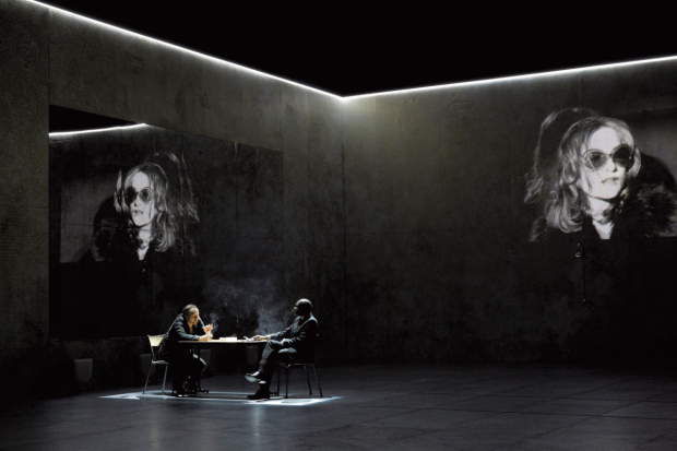 <p>Isabelle Huppert, Andrzej Chyra and Alex Descas</p><br />© Pascal Victor