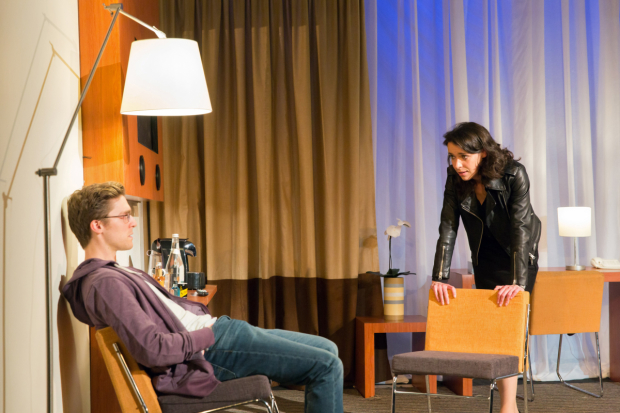 <p>Jack Farthing (Andrew) and Caoilfhionn Dunne (Woman) </p><br />© Stephen Cummiskey