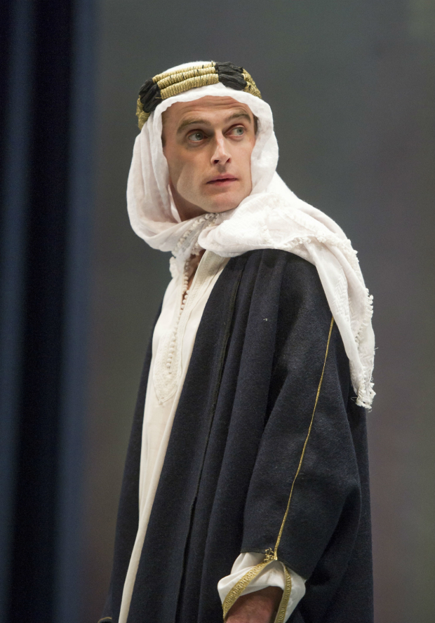 <p>Jack Laskey (T.E.Lawrence) in <em>Lawrence after Arabia</em></p><br />© Alastair Muir
