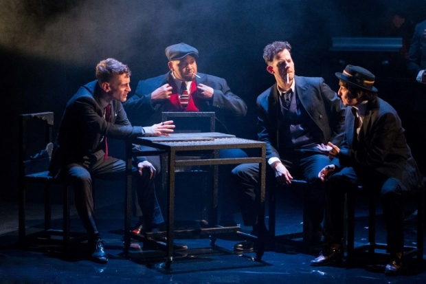 <p>Jacob James Beswick (Pinkie), Dorian Simpson (Dallow), Marc Graham (Cubitt) and Angela Bain (Spicer)</p><br />© Karl Andre Photography