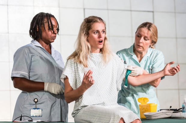 <p>Jacqui Dubois, Denise Gough (Emma) and Sally George</p><br />© Johan Persson