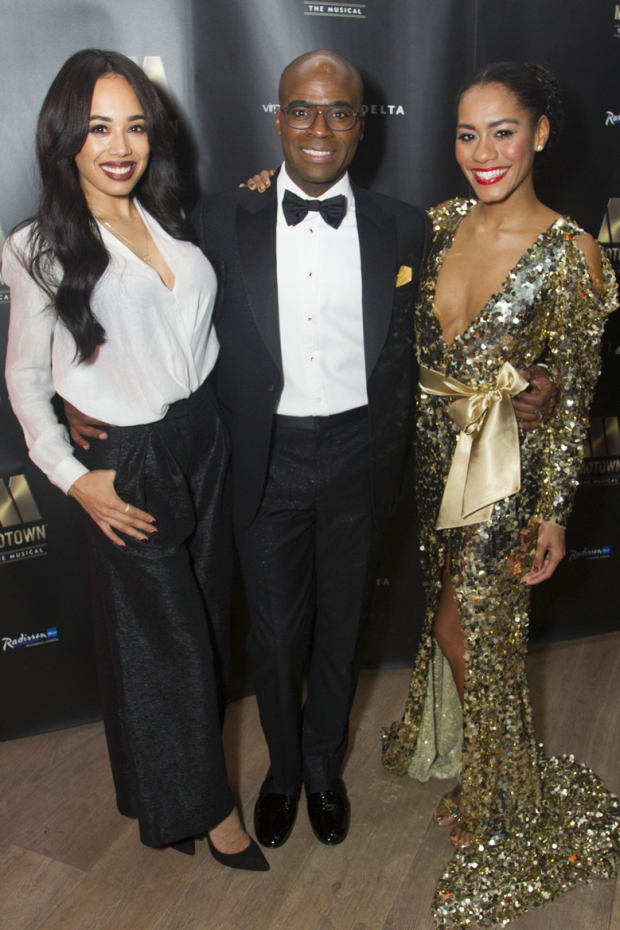 <p>Jade Ewen, Cedric Neal (Berry Gordy) and Lucy St Louis (Diana Ross)</p><br />© Dan Wooller for WhatsOnStage