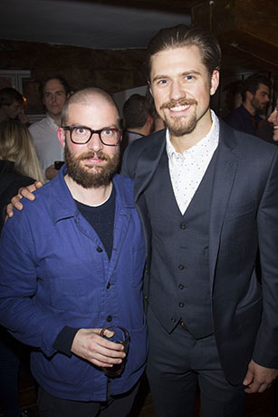 <p>Jamie Lloyd (director) and Aaron Tveit (John Wilkes Booth)</p><br />© Dan Wooller for WhatsOnStage