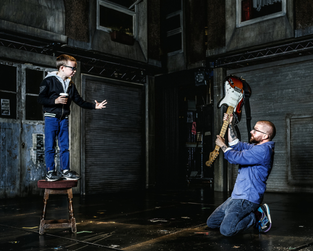 <p>Jamie Lloyd with his son Lewin</p><br />© Darren Bell