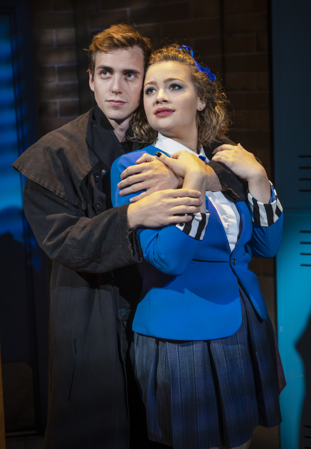 <p>Jamie Muscato (Jason Dean) and Carrie Hope Fletcher (Veronica Sawyer)</p><br />© Pamela Raith
