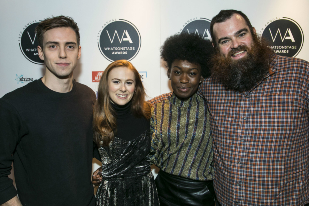 <p>Jamie Muscato, Laura Baldwin, Tanisha Spring and Dean Nolan</p><br />© Dan Wooller for WhatsOnStage